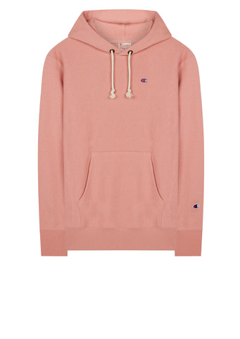 AW17 Classic Applique Hooded Sweat in Pink