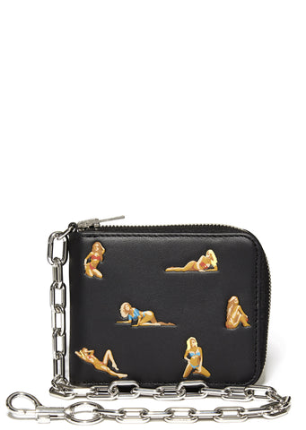 SS17 Pin-Up Print Chain Wallet