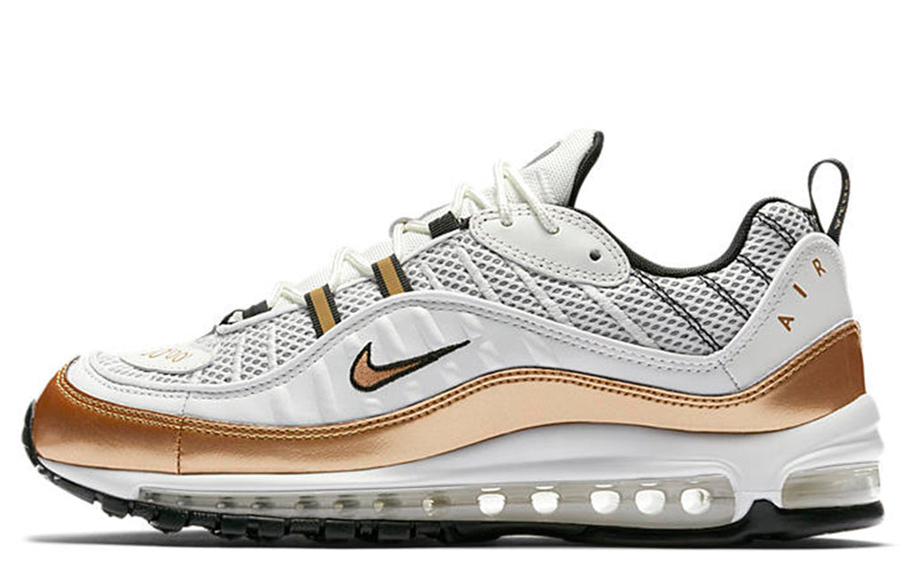 SS18 Air Max 98 in Summit White/Metallic Gold-Black (AJ6302-100)