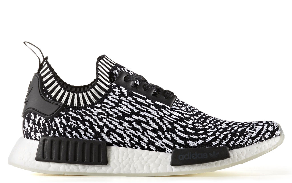 AW17 NMD_R1 Primeknit in Black on White (BY3013)