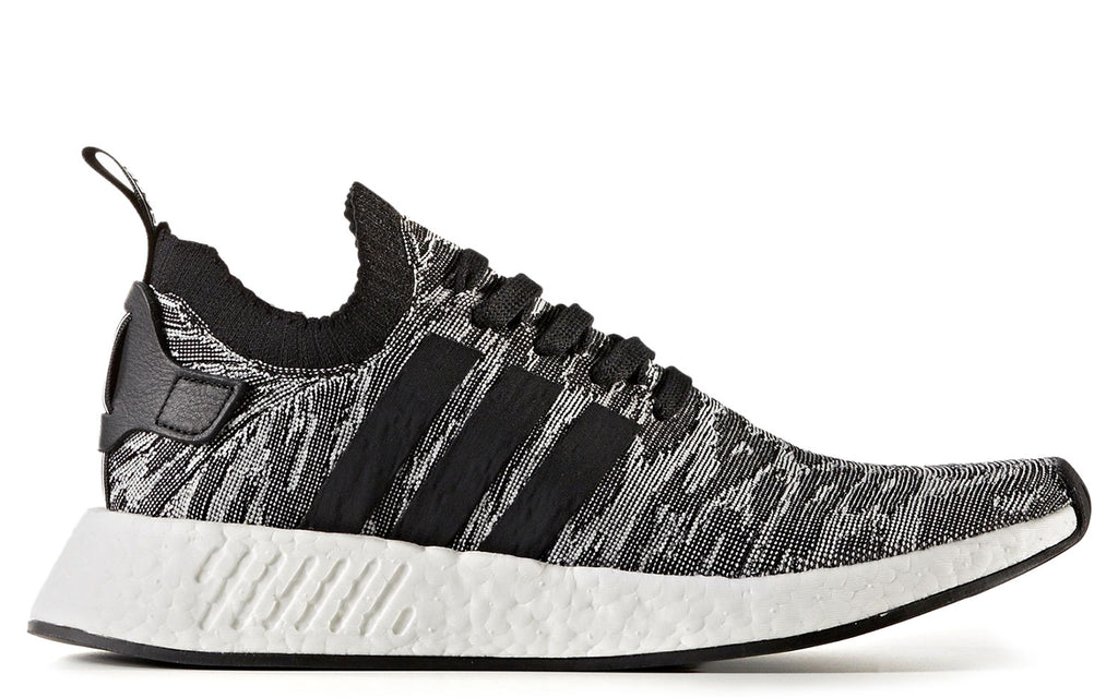 NMD R2 Primeknit in White/Core Black (BY9409)