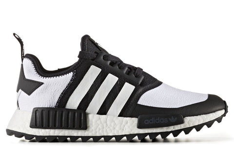 White Mountaineering x adidas NMD R1 Trail Primeknit in Core Black / Footwear White (CG3646)