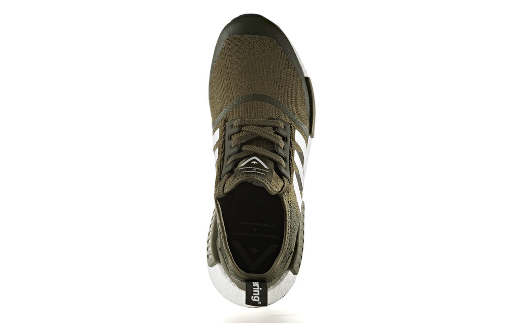 new style b8344 ee19a White Mountaineering x adidas NMD R1 Trail Primeknit in Trace Olive (CG3647)