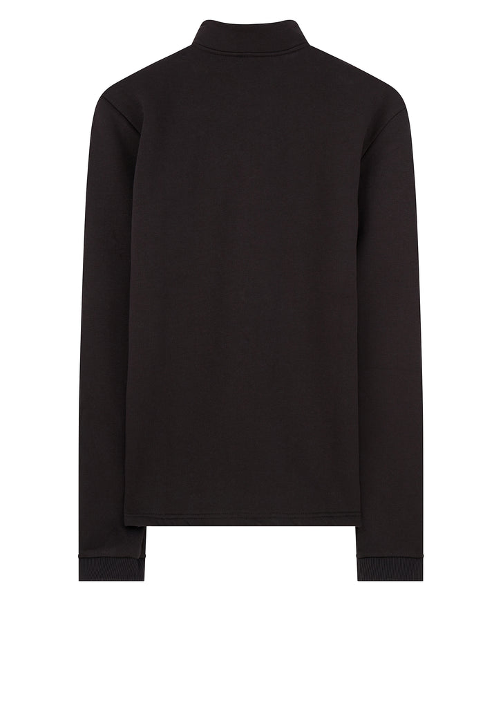 AW17 Ghillie Zip Neck in Black
