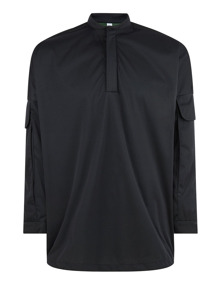 Utility Overshirt Smock in Black