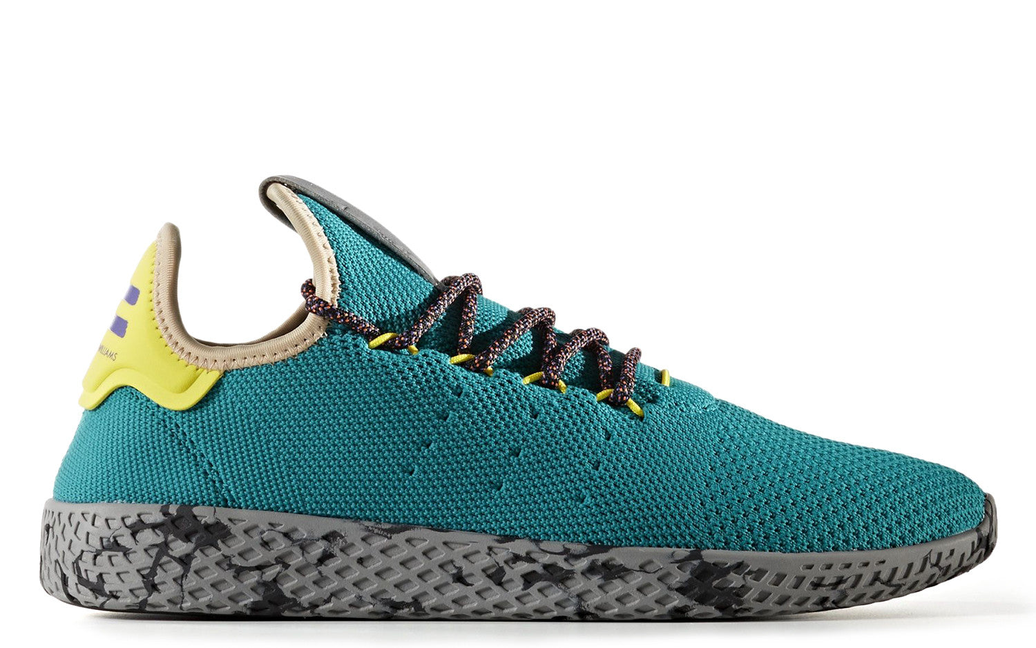 uk availability 18a50 98820 ... adidas x Pharrell Williams Tennis HU in TealSemi Frozen YellowGrey  Marble ...
