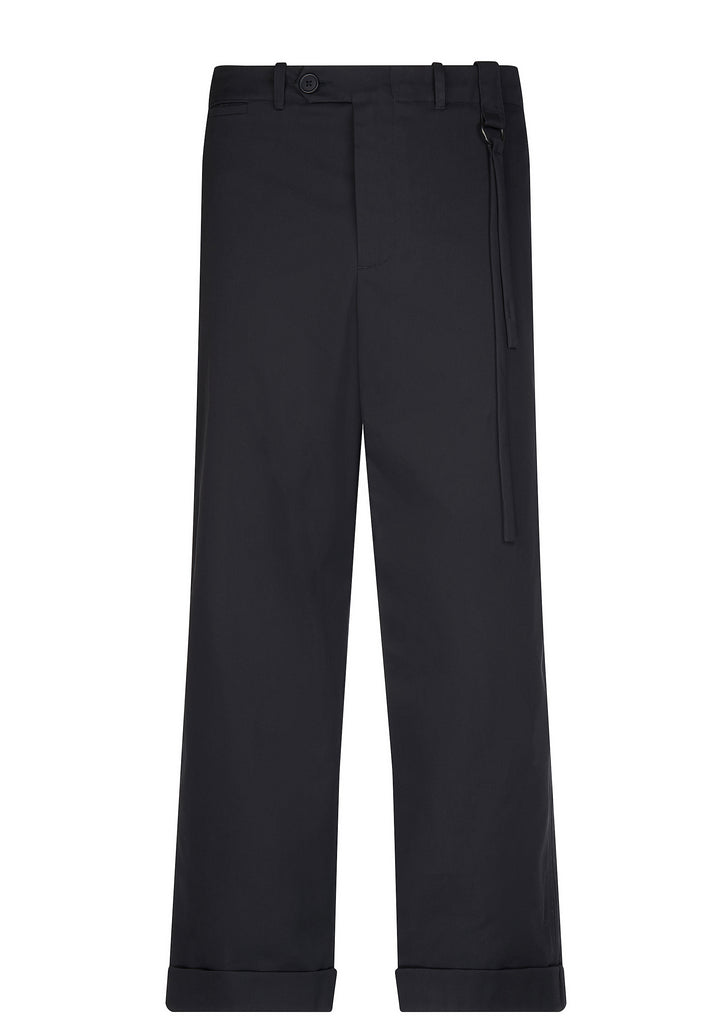 Relaxed Tailored Trousers in Navy