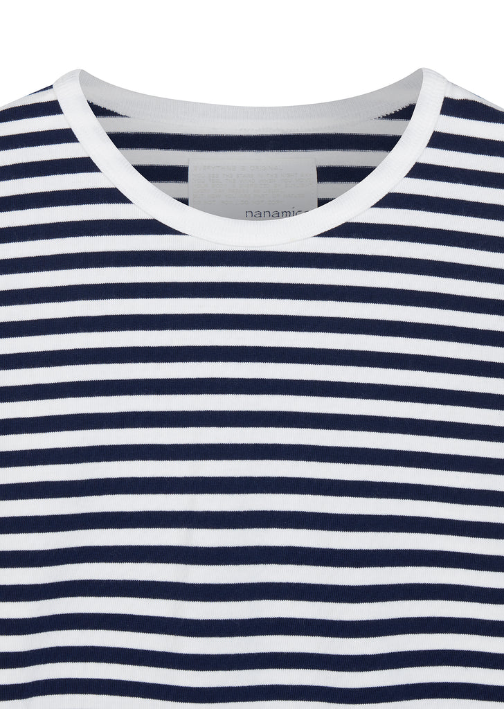 Coolmax Striped LS Tee in Blue/White