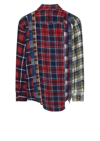 AW17 7 Cuts Flannel Shirt in Red