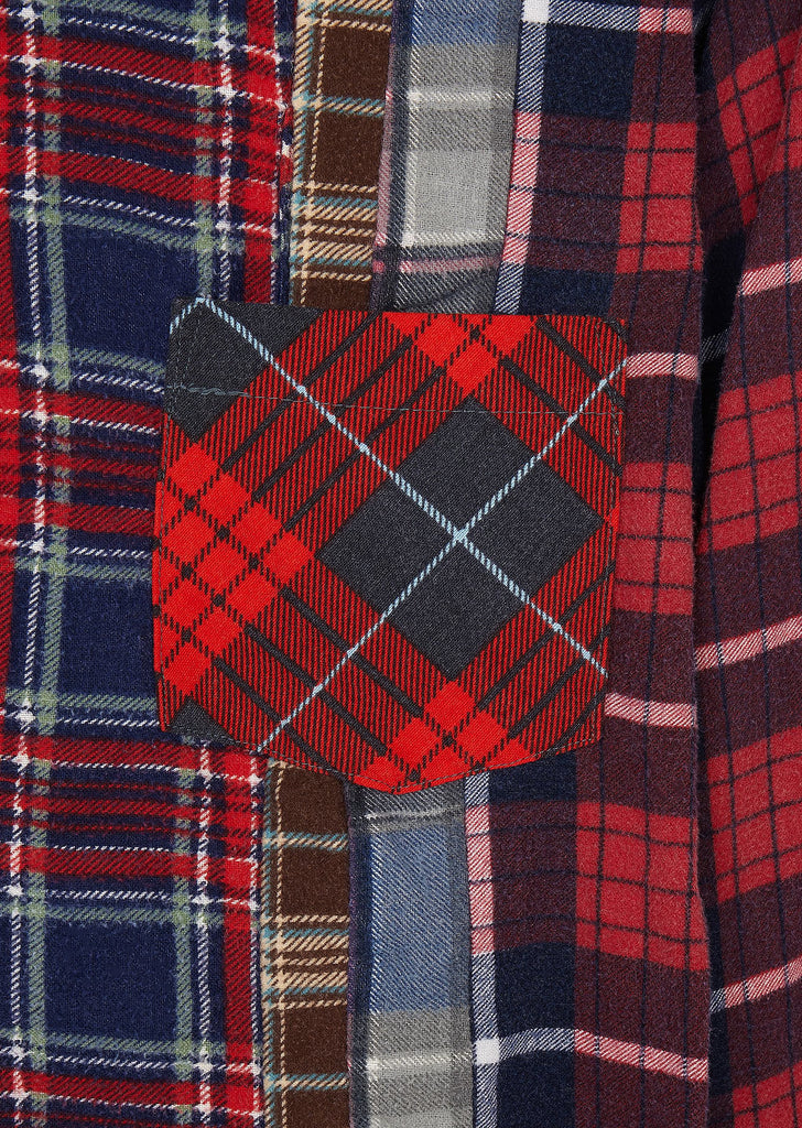 7 Cuts Flannel Shirt in Red