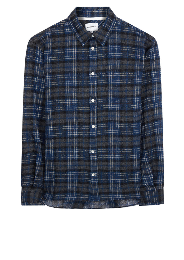 AW17 Hans Loose Weave Gauze Shirt In Blue