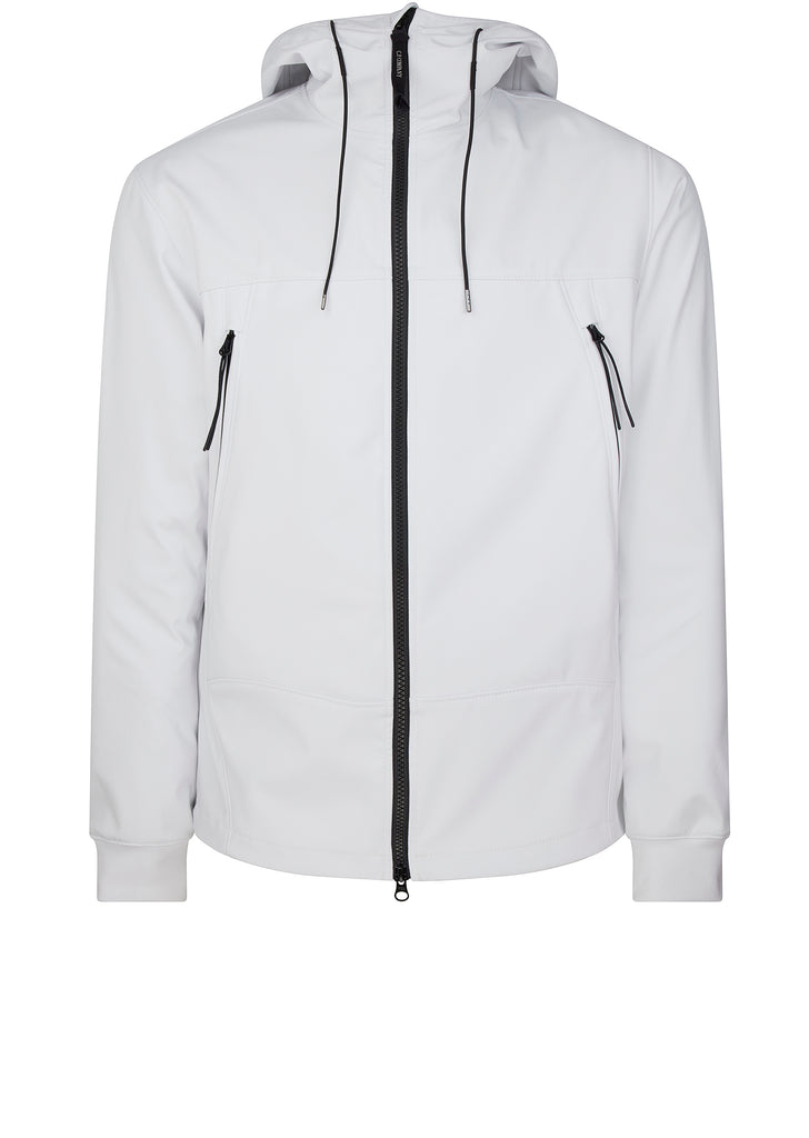 Shell Goggle Jacket in Tapioca White
