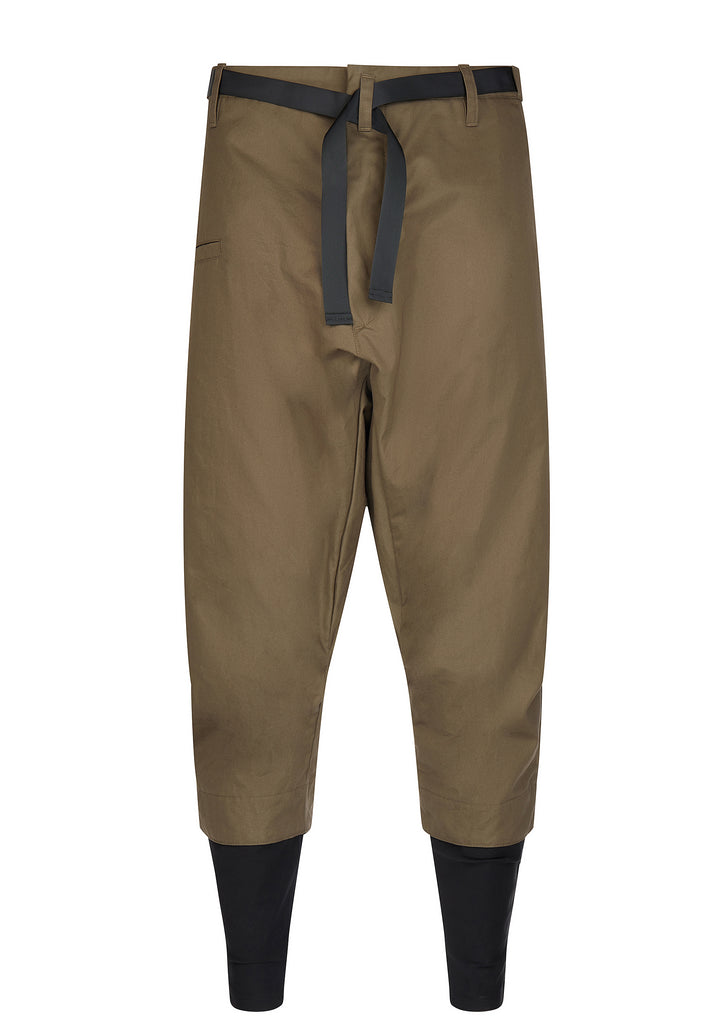 AW17 P23TS-S Tec Sys Drawcord Trousers in Khaki