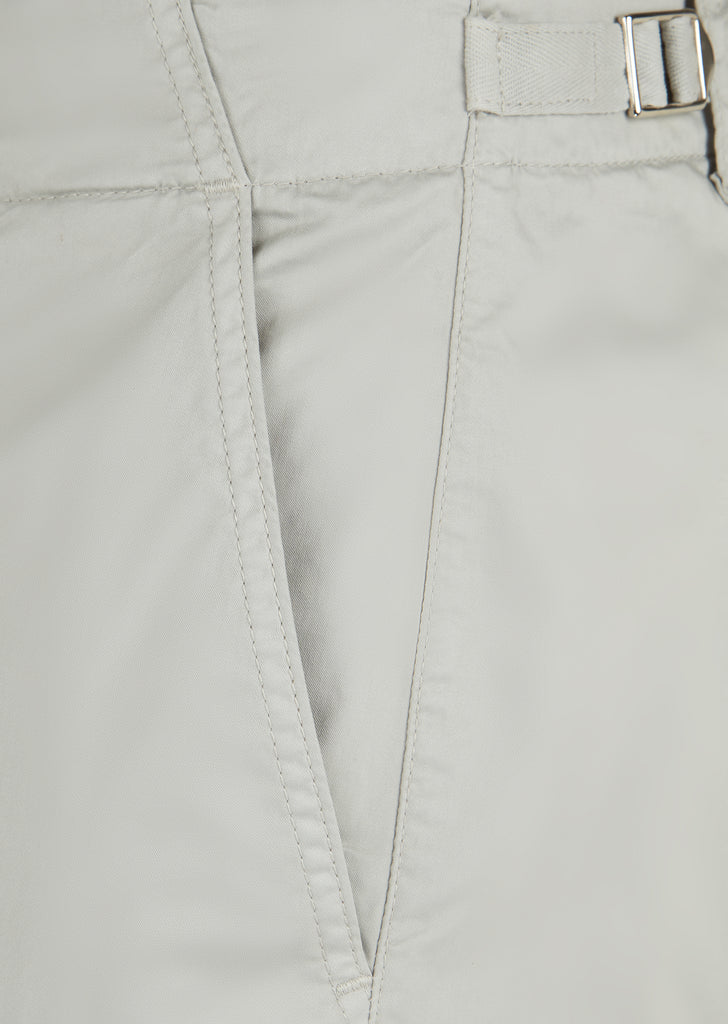 Garment Dyed Chino Trouser in Paloma Grey