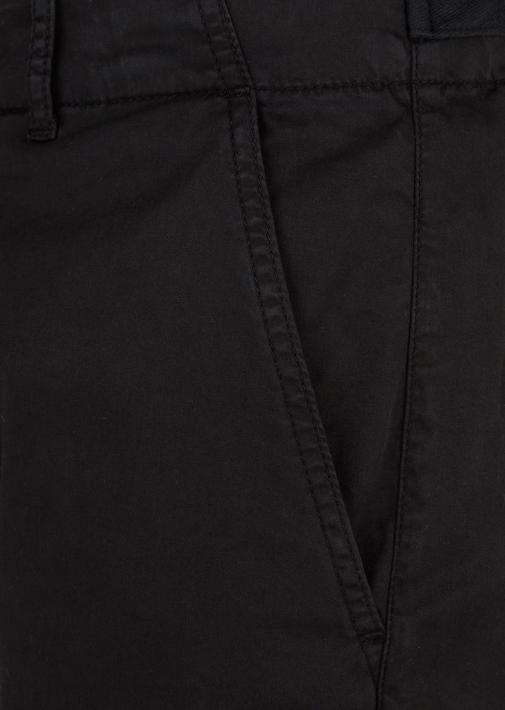 Garment Dyed Chino Trouser in Black