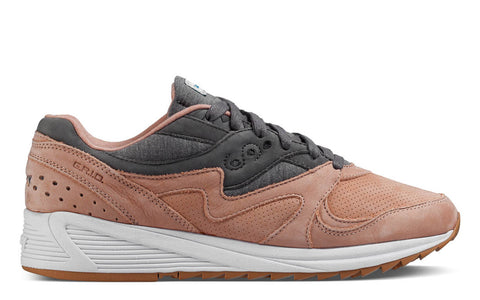 SS17 Heritage Grid 8000 Sneaker in Salmon / Charcoal