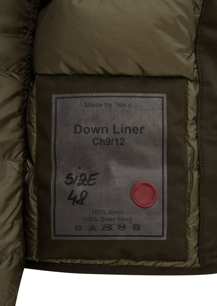 AW17 Nylon Down Liner in Olive