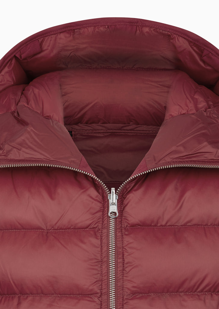 Reversible Hooded Down Liner in Red