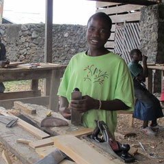 A carpentry apprentice fund through the Begin a business World Gift