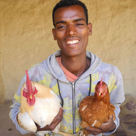 Haylay has 20 chickens and has been trained in how to keep them.