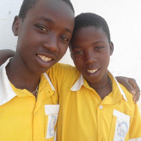 Frank and John are able to attend school and now have the chance to achieve their potential.