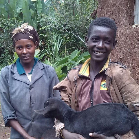 The World Gift Goat means people like Abeba and her husband can now provide for their family all year round