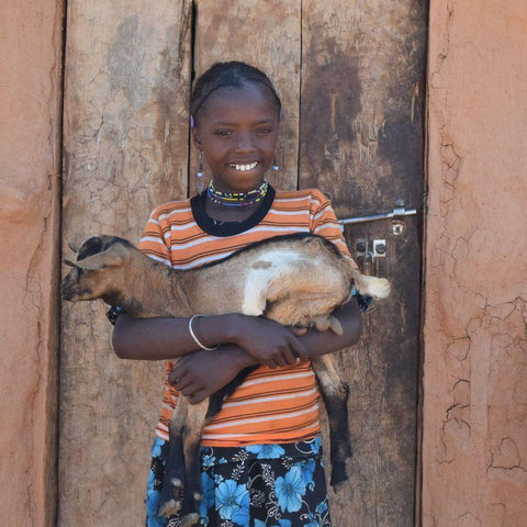 A CAFOD World Gift goat can bring a family a much needed source of healthy milk and an income!