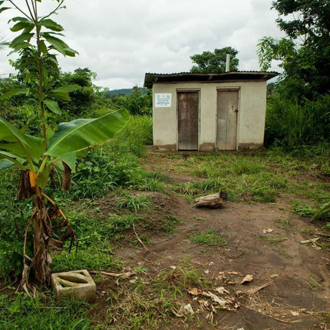 A CAFOD-funded latrine in Zimbabwe