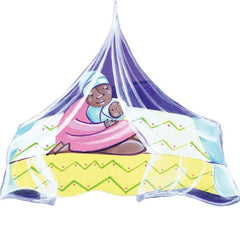 This charity mosquito net is treated with strong repellent and can keep families safe from deadly diseases