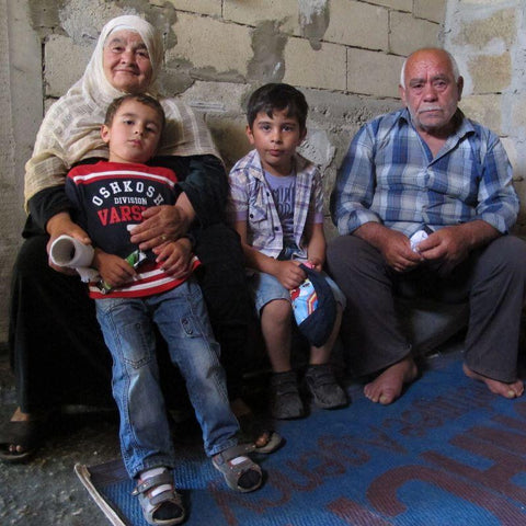 Ahmad and his wife are desperate to take good care of their grandchildren after leaving Syria.
