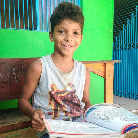 Thanks to a CAFOD World Gift reading workshop and counselling, Thiago has found a creative outlet to channel his energy into