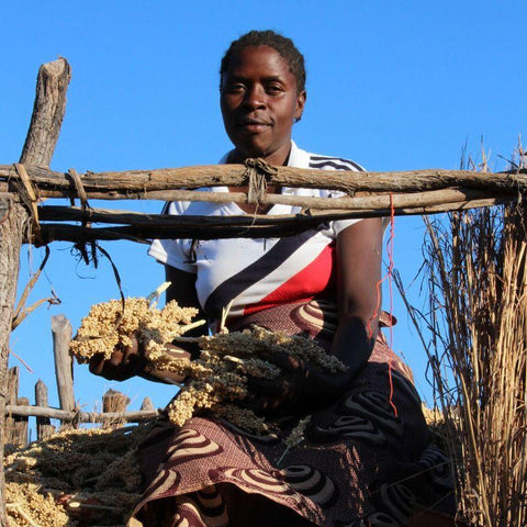 Juliet is part of a group of farmers supported by CAFOD. This World Gift provides training, together with different strains of local crops which can survive for longer periods without water