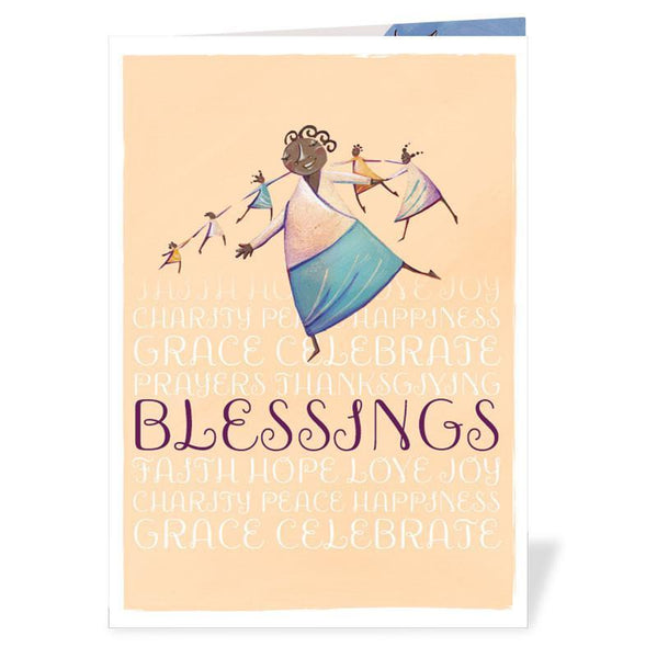 This Blessings card is perfect for anyone celebrating a Baptism, Confirmation, new baby or other sacrament.