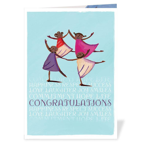 Choose to have your World Gifts come with our celebratory Congratulations card.