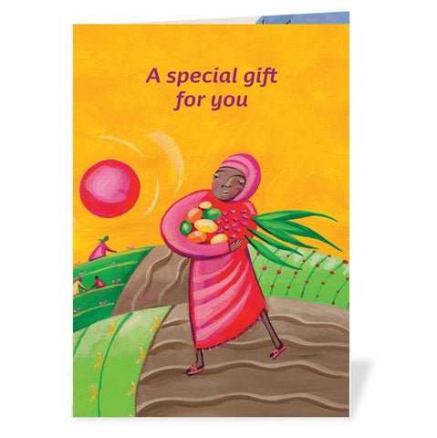 Our special gift card describes your virtual World Gift