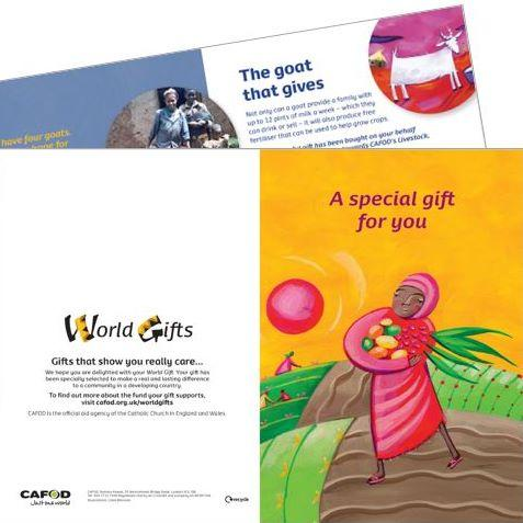 Your World Gift will come with a downloadable 'Special gift' gift card
