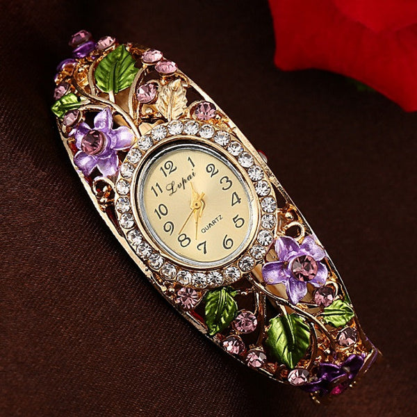 Crystal Garden Quartz Wrist Watch