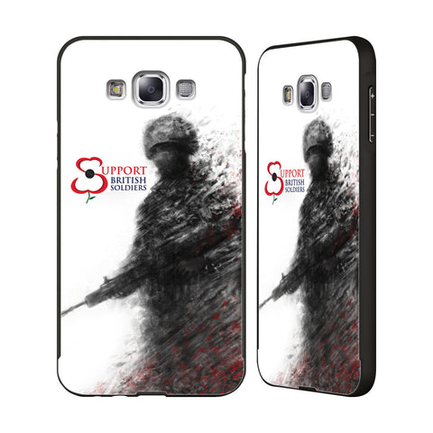 Support British Soldiers Sbs Official Support British Soldiers SBS Official Black Aluminium Bumper Slider Case for Samsung Galaxy E7