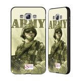 Support British Soldiers Sbs Official British Troops Black Aluminium Bumper Slider Case for Samsung Galaxy E7