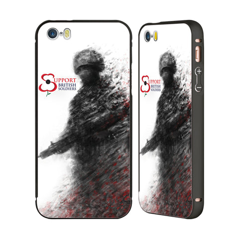 Support British Soldiers Sbs Official Support British Soldiers SBS Official Black Aluminium Bumper Slider Case for Apple iPhone 5 / 5s / SE