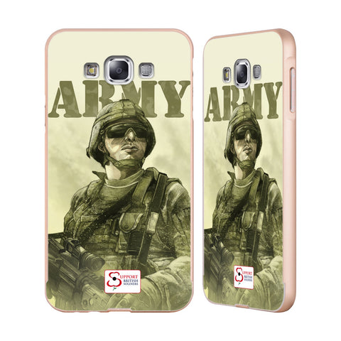 Support British Soldiers Sbs Official British Troops Gold Aluminium Bumper Slider Case for Samsung Galaxy E7
