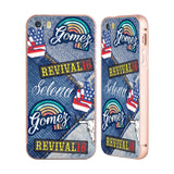 Official Selena Gomez Revival Art Gold Aluminium Bumper Slider Case for Apple iPhone 5 / 5s / SE