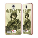 Support British Soldiers Sbs Official British Troops Gold Aluminium Bumper Slider Case for Xiaomi Redmi Note