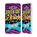Official Green Day Key Art Silver Aluminium Bumper Slider Case for Samsung Galaxy E7