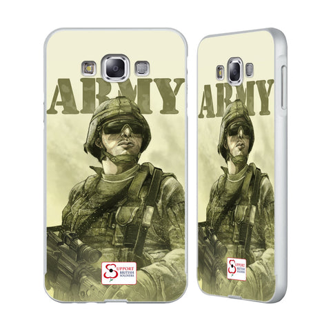 Support British Soldiers Sbs Official British Troops Silver Aluminium Bumper Slider Case for Samsung Galaxy E7
