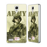 Support British Soldiers Sbs Official British Troops Silver Aluminium Bumper Slider Case for Xiaomi Redmi Note