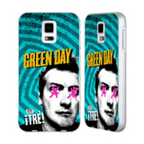 Official Green Day Key Art Silver Aluminium Bumper Slider Case for Samsung Galaxy S5 / S5 Neo