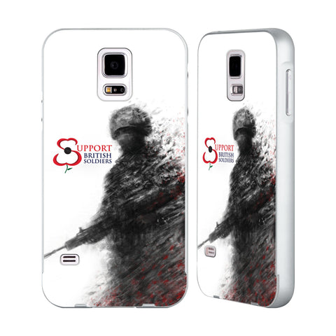 Support British Soldiers Sbs Official Support British Soldiers SBS Official Silver Aluminium Bumper Slider Case for Samsung Galaxy S5 / S5 Neo