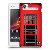 HEAD CASE DESIGNS TELEPHONE BOX HARD BACK CASE FOR SONY XPERIA M / M DUAL