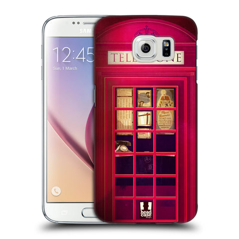 HEAD CASE DESIGNS TELEPHONE BOX HARD BACK CASE FOR SAMSUNG GALAXY S6